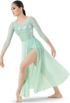 Sequin Leotard with Skirt Cute Dance Costumes, Dance Costumes Lyrical, Ballet Costumes, Dance Leotards, Photoshoot Idea, Contemporary Dance Costumes, Dance Wear Solutions, Praise Dance, Ballet Fashion