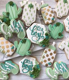 Baby Shower Gifts For Boys, Boy Baby Shower Themes, Baby Shower Gender Reveal, Baby Boy Shower, Baby Shower Decorations, Baby Cookies, Baby Shower Cookies, Cute Cookies, Birthday Cookies