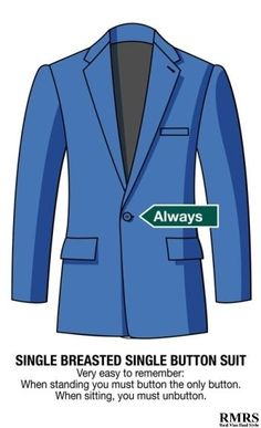 2 Button Suit Buttoning Rules For Two-Button Suit Jackets Mens Suits Online, Double Breasted Suit, Single Breasted, Latest Mens Fashion, Men Fashion, Fashion Guide, Fashion Dictionary, Mens Gear, Men Style Tips