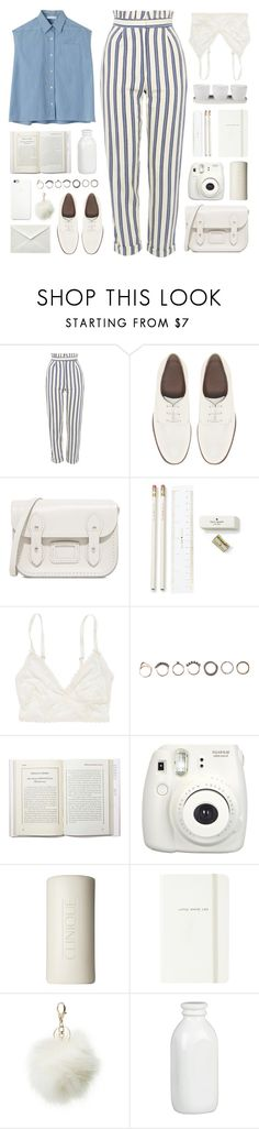 """""""250517"""" by rosemarykate ❤ liked on Polyvore featuring Topshop, Chloé, ASOS, The Cambridge Satchel Company, Kate Spade, American Eagle Outfitters, Black Apple, Iosselliani, Fujifilm and Clinique"""