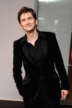 David Tennant & those damned velvet suits! They're basically wrapping paper for the best gift the world could get, D.T.!