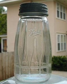 Antique Bottles, Vintage Bottles, Bottles And Jars, Antique Glass, Glass Bottles, Perfume Bottles, Ball Canning Jars, Ball Mason Jars, Vintage Kitchenware