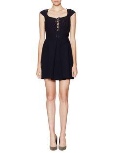 Lace-Up Pleated Dress | Miu Miu