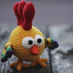 Lucky Rocky Cocky crochet rooster / New Year by MoonBearKids