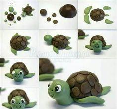 TUTO tortue pate a sucre