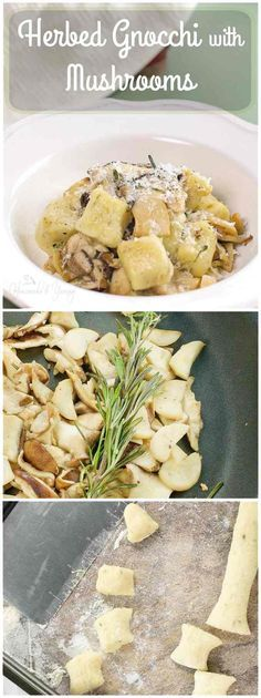 Herbed Gnocchi with Mushrooms is easier to make than you think. Nothing beats making fresh pasta at home. | homemadeandyummy.com
