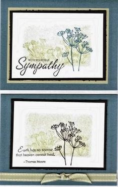 Garden Silhoutte Duo by Janine T - Cards and Paper Crafts at Splitcoaststampers