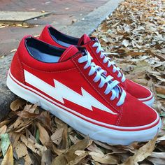 Cool Trainers, Revenge, Me Too Shoes, Walking, Vans, Fashion Outfits, Sneakers, Red, Clothes