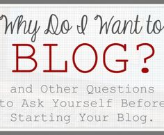 Blogging questions to ask yourself!