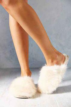 yummy fuzzy slippers!