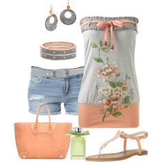 """Floral Ribbon"" by ding1 on Polyvore"