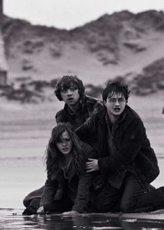 Ron Weasley, Harry Potter and Hermione Granger