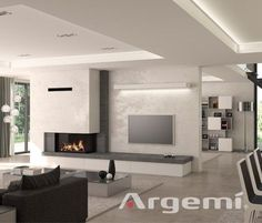 Tags: living room with fireplace decor, living room with fireplace and .-Tags: wohnzimmer mit kamin dekor, wohnzimmer mit kamin und bücherregal … Tags: living room with fireplace decor, living room with fireplace and bookcase … - Living Room Decor Fireplace, Fireplace Tv Wall, Modern Fireplace, Fireplace Design, Fireplace Ideas, Stone Fireplaces, Fireplace Inserts, Living Room Modern, Living Room Interior