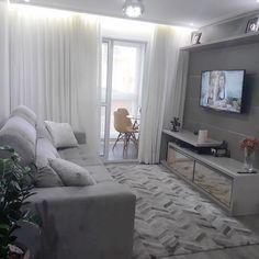 Home Decoration Do It Yourself Code: 7373997843 Narrow Living Room, Small Apartment Living, Condo Living, Home Living Room, Living Room Designs, Living Room Decor, Bedroom Decor, Apartment Interior, Apartment Design