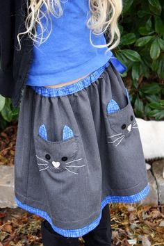 Ottobre 6/2013 Meoow Skirt #cats #girlsskirts #SewforGirls