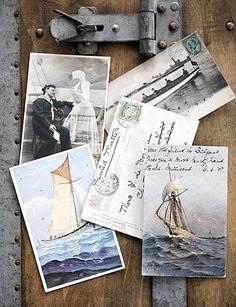 ansichtkaarten met schepen en matrozen #sailing #postcards