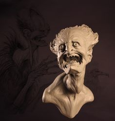 Oil Based Clay, Face Off, Creature Design, Studying, Surrealism, Monsters, Anatomy, Sculpting, Coloring Pages