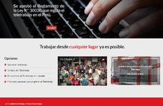 Vía www.teletrabajo.gob.pe El teletrabajo es una modalidad especial de prestación de servicios caracterizada por la utilización de tecnologías de la información y las telecomunicaciones (TIC) y por…