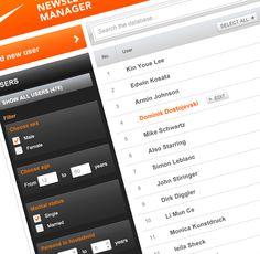 ★ Newsletter Manager by Krešimir Kraljević, via Behance