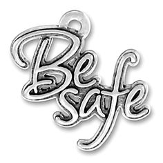 BE SAFE CHARM. Perfect gift for those you want to protect and keep safe. Made of 925 Sterling Silver Made in the USA Item is single sided,
