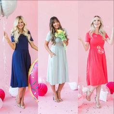 If you  Poppy & Dot's Signature dresses, these solids are just for you! I mean heellloooo... How cute are these pockets and empire waist lines!?   Use my code NATRAWL10 for 10% off your order! #poppyanddotrockstar #poppyanddotambassador