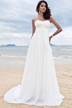 Best selling: A-line Sweetheart Sleeveless Lace Court Train Wedding Dress, $174.99, click on the picture to buy it directly.