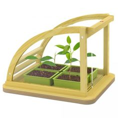 Bamboo Eco Greenhouse - Little gardeners will love this addition to their toy collection. Our Bamboo Eco Greenhouse features a modern design with a retractable rooftop for watering and planting. This set does not come with seeds or soil, but kids are encouraged to find some plants to grow! This green house should be placed in sunlight. Made in Hape's factory in Ningbo, China, this sustainable bamboo greenhouse can be passed on generation to generation.