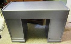 Silver Painted Desk/Vanity - GLAM - 85.00