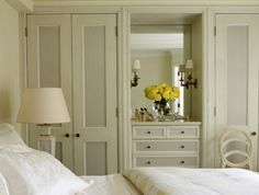 Lovely bedroom but,tins with a dresser too