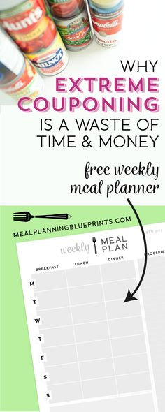 I hate coupons. There, I said it. There are better ways to save money on your grocery budget and download a free meal planner. Free Printable | Meal Planning | Kitchen Organization | Coupons