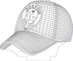 3D illusion baceball cap premium vector drawing