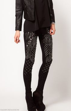Bedazzled pants