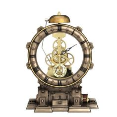 Time Machine - working steampunk clock from Nemesis Now. Steampunk genre inspired clock in cold cast resin. Buy online with confidence. Steampunk Interior, Corset Steampunk, Steampunk Clock, Steampunk House, Steampunk Design, Steampunk Clothing, Steampunk Fashion, Steampunk Makeup, Steampunk Drawing