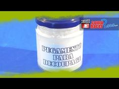 Pegamento Casero para Decoupage - YouTube Decoupage Glue, Cold Porcelain, Coffee Cans, Projects To Try, Homemade, How To Make, Diy, Pasta, Formulas