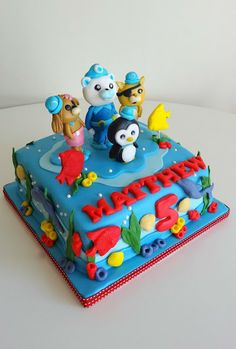 -: OCTONAUTS CAKE