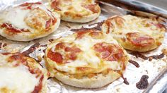 Easy Pepperoni English Muffin Pizzas – *could do a healthy version with whole grain muffin and low fat cheese :)