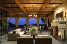 Outdoor living room - Tom Brady and Gisele's Brentwood, CA home - if it's good enough for Tom and Gisele, it's good enough for me. Outdoor Rooms, Outdoor Living, Outdoor Decor, Outdoor Areas, Outdoor Topiary, Outdoor Seating, Tom Brady E Gisele, Pergola, Beverly Hills Houses