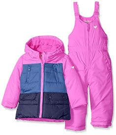 Osh Kosh Girls' Snowsuit With Puffer Coat: Two piece heavyweight snowsuit with color block jacket Comfy Hoodies, Cheap Hoodies, Hooded Sweatshirts, Snow Wear, Girls Winter Coats, Country Shirts, Winter Hoodies, Shirts For Teens, Snow Suit