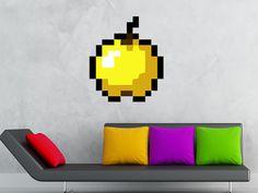 Reusable Removable Minecraft GOLDEN APPLE Wall Decals Wall Sticker