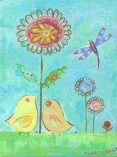 Rosenberry Rooms has everything imaginable for your child's room! Share the news and get $20 Off  your purchase! (*Minimum purchase required.) Little Yellow Love Birds Art Print #rosenberryrooms