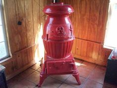 Antique Cannon Model #20  Wood Coal Burning  Pot Belly Stove Totally Reconditioned