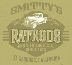 PERSONALIZED Rat Rods T-Shirts. Send me your NAME or BUSINESS, TOWN, STATE and YEAR and COLOR. I will set up art for YOU! You will receive a proof and a link to my store for purchase. marko@digitalhotrod.com  I can add any vehicle you wish. Send 3/4 view.