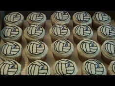 TUTORIAL Volleyball Cupcake Decorating Tutorial Frozen Buttercream Transfer