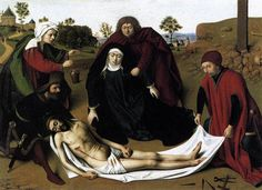 'The Lamentation 1' by Petrus Christus (1410-1475, Belgium)