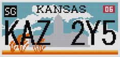 Supernatural Impala License Plate Cross Stitch Pattern by GeekyStitches on Etsy, could turn into colour work pattern for sweater? Geek Cross Stitch, Beaded Cross Stitch, Crochet Cross, Cross Stitch Embroidery, Cross Stitch Patterns, Supernatural Impala, Supernatural Fandom, 8bit Art, Geek Crafts