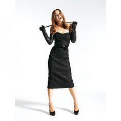 Robe en cuir n°125 de Burda Style Janvier 2012