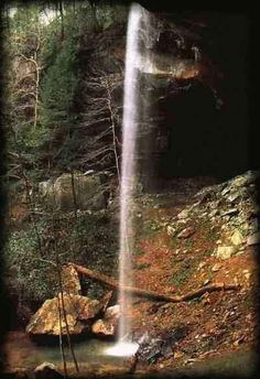 The Ywahoo Falls in Southeast Kentucky where 110 Cherokee women and children were massacred August 10, 1810.
