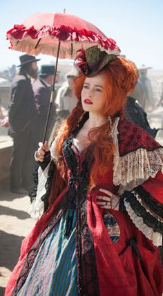 Helena Bonham Carter as Red Harrington in 'The Lone Ranger' (2013). Costume Designer: Penny Rose.