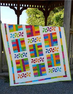 Saturday In The Park Quilt Pattern LLD-011 (advanced beginner, baby, lap and throw)- Jude Spero-$9.00