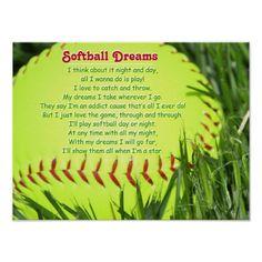 Softball Poem Poster